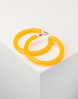 you i and transparent hoop earrings orange accessory