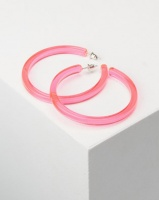 you i and transparent hoop earrings pink accessory
