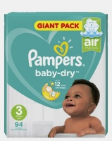 pampers active baby midi size 3 giant pack 94 nappy