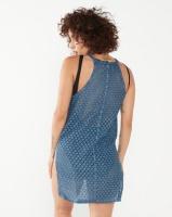 lizzy laycie cover up blue swimwear