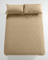 utopia fitted sheet taupe bedding