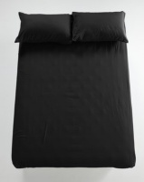 utopia fitted sheet black bedding