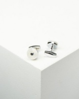 xcalibur cufflinks with mother of pearl colouring silver cufflink