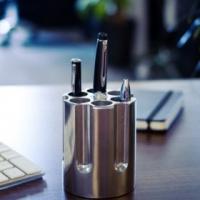 breaking bad gun cylinder pen holder desk accessory