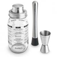 mason jar cocktail shaker set