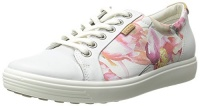ecco footwear womens soft 7 sneaker oxford white floral