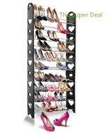 heart shape 10 tier stackable shoe rack