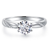 stunning flame solitaire engagement ring cubic zirconia cz