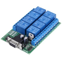12v 8 channel db9 rs 232 relay module remote control switch