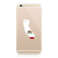 2x california state shaped flag cell phone sticker self