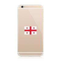 2x georgian flag cell phone sticker decal fa vinyl