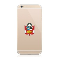 2x peruvian coat of arms cell phone sticker die cut decal