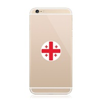 2x round georgian flag cell phone sticker die cut decal fa