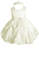 amj dresses inc baby girls ivory flower girl wedding dress