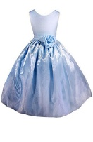 amj dresses inc little girls sky blue flower pageant dress