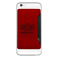 arkansas state university cell phone card holder red