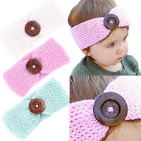 baby girl headbands with button perfect for