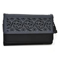 black ladies wristlet cell phone holder wallet universal