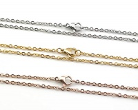 cable chains 15 stainless steel necklaces silver gold rose