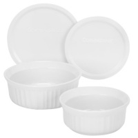 corningware french white 4 piece round mini value pack