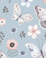 dot grid paper notebook floral butterfly 75 x 95