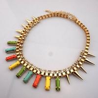 gdstar punk style neon acrylic necklaces pendants venice
