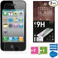 iphone 4 4s screen protector set of 2 ballistic tempered