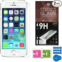 iphone 5 screen protector set of 2 ballistic tempered glass