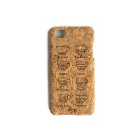 iphone 7 8 cork case coffe cup elegant and