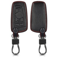 kwmobile leatherette case for 3 button remote car key only