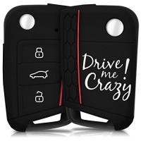 kwmobile silicone case for vw golf 7 mk7 3 button car key