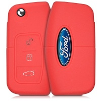 kwmobile silicone cover for ford 3 button car flip key