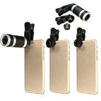 mway universal 4 in 1 clip on cell phone lens kit fisheye