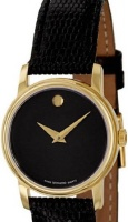 movado 2100006 womens museum gold tone stainless steel case