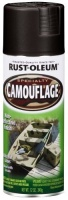 rust oleum 1916830 camouflage spray black 12 ounce by
