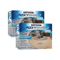 rust oleum 203008 basement floor kit tan 2 pack