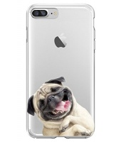shark cute pug dog design case for iphone 7 plus