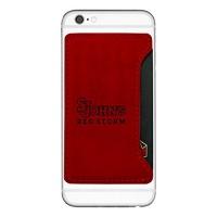 st johns university cell phone card holder red