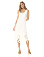 taylor dresses womens lace sleeveless midi dress ivory size
