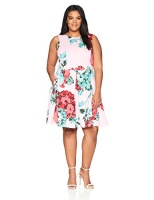 taylor dresses womens plus size sleeveless fit and flare