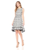 taylor dresses womens sleeveless embroidered organza dress