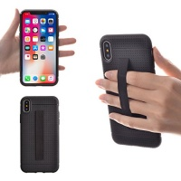 tfy apple iphone x case cover with elastic strap holder