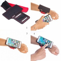 tfy open face sport armband detachable case for iphone