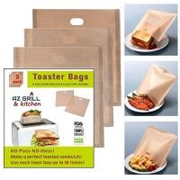 toaster bags 6 7 x 5 set of 3 non stick teflon reusable