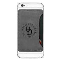 university of delaware cell phone card holder grey