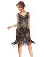 xs xxl womens roaring 20s v neck gatsby dresses vintage