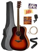 yamaha fg820 solid top folk acoustic guitar brown sunburst