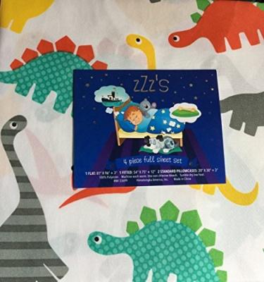 Photo of ZZZs zZz's Dinosaur Park Sheet Set Full 4 piece