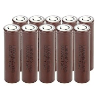 10 lg hg2 18650 3000mah flat top rechargeable batteries for