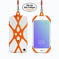 2 in 1 cell phone lanyard rocontrip strap case holder with
